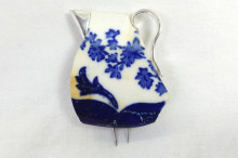 Ceramic milk jug brooch