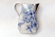 Ceramic water jug brooch