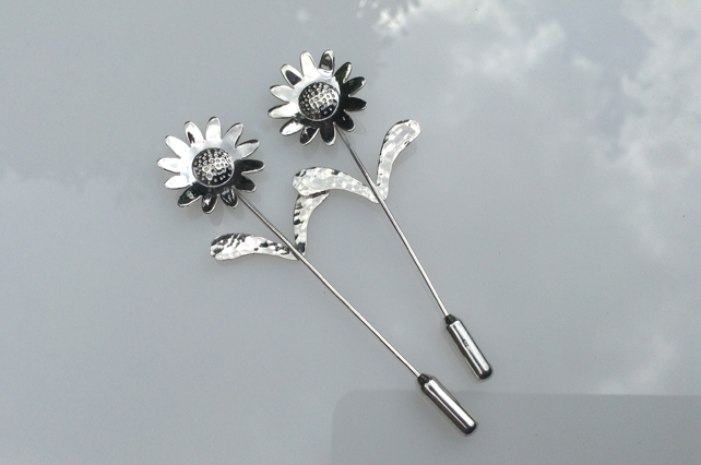 Sunflower stick pin