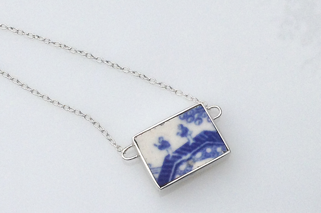 Ceramic shard necklace